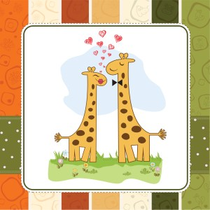 Giraffes at Mating Dance