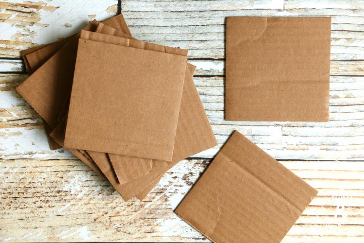 riciclando i ritagli di carta regalo