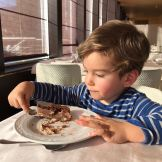 Una ricca colazione per Leonardo
