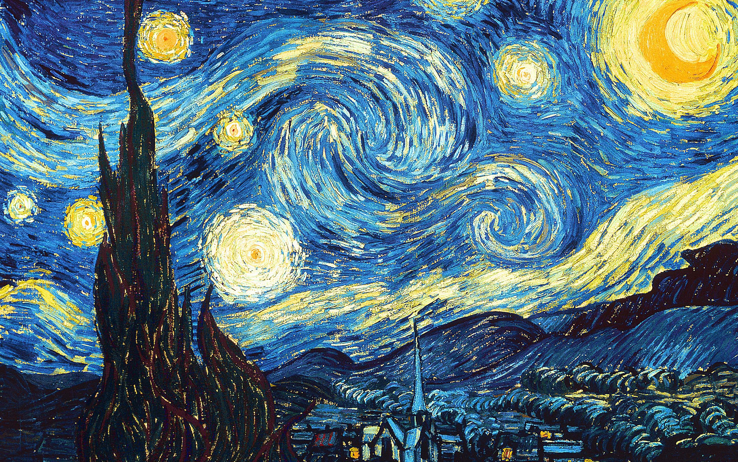 La notte stellata vincent van gogh 1889 museum of modern for Ciao bambini van gogh