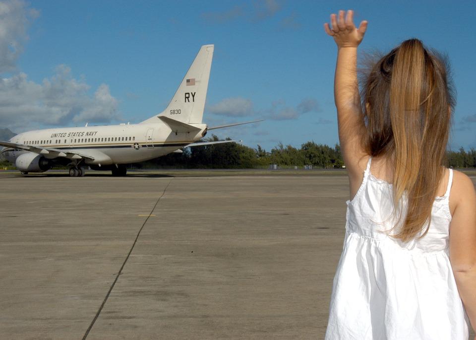 Volare con bambini