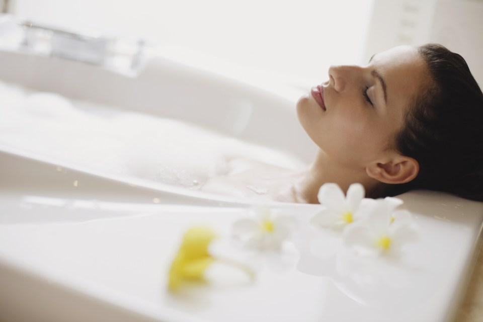bagno rilassante e disintossicante