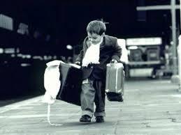 bambino in viaggio