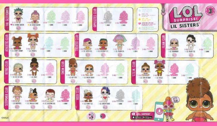 L.O.L SURPRISE Confetti Pop- serie 3 - Lil sister - wave 1