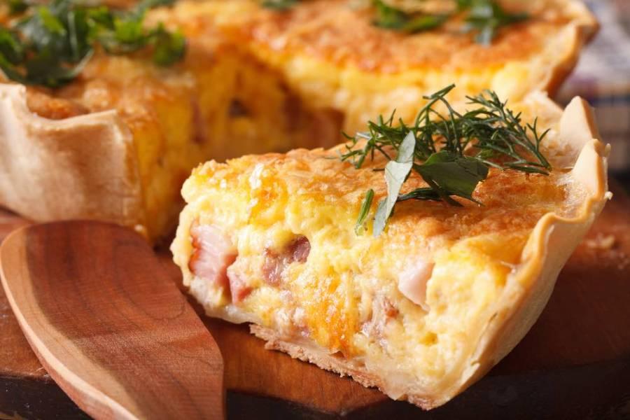 Sbriciolata veloce con prosciutto cotto e formaggio