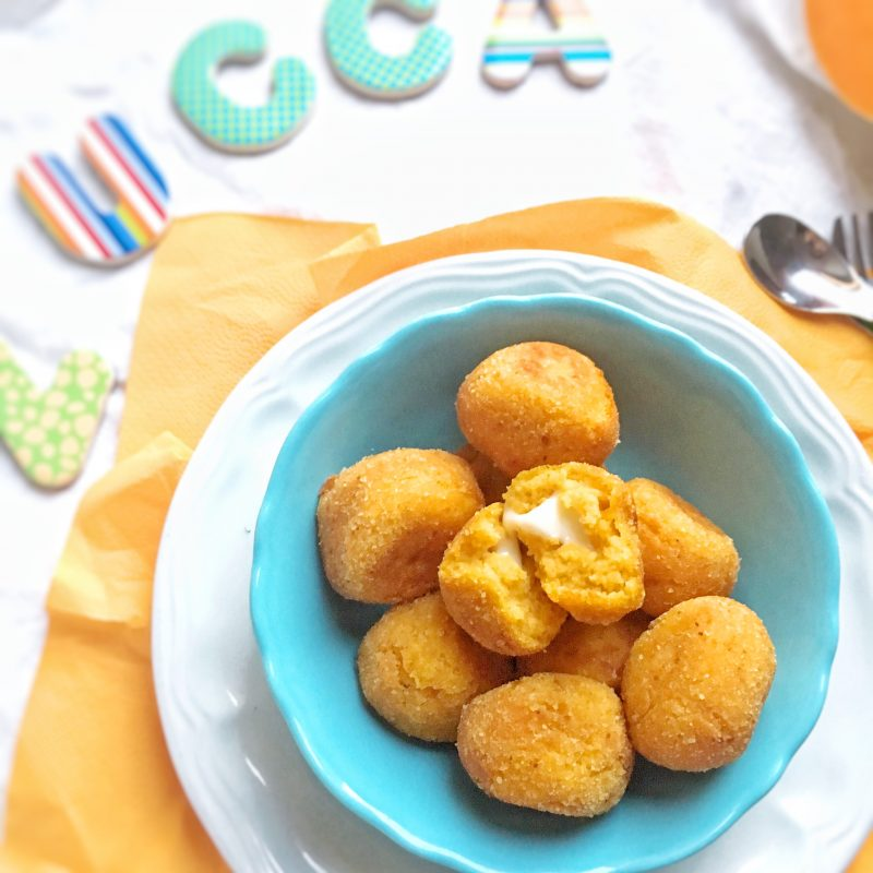 Polpette di zucca e formaggio.