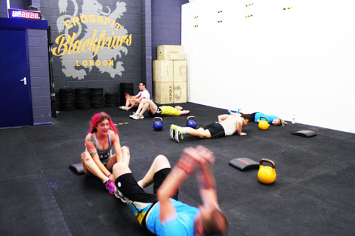 Crossfit in action