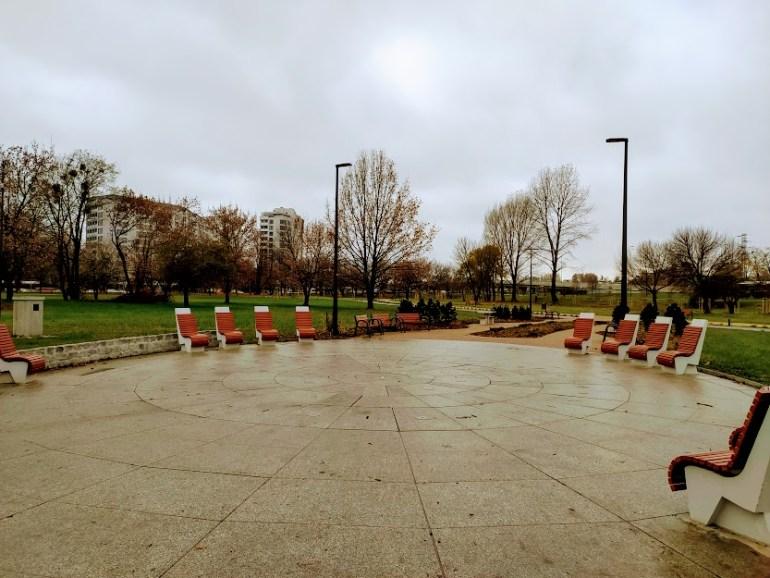 park zachodni fontanna