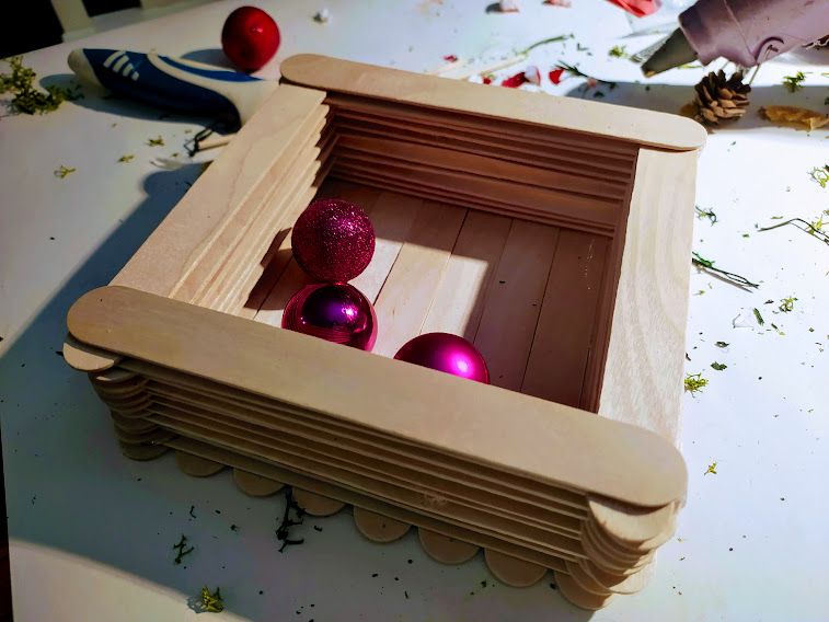 drewniane pudełko diy