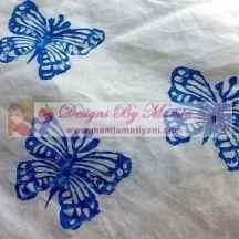 Butterflies Block Print Fabric