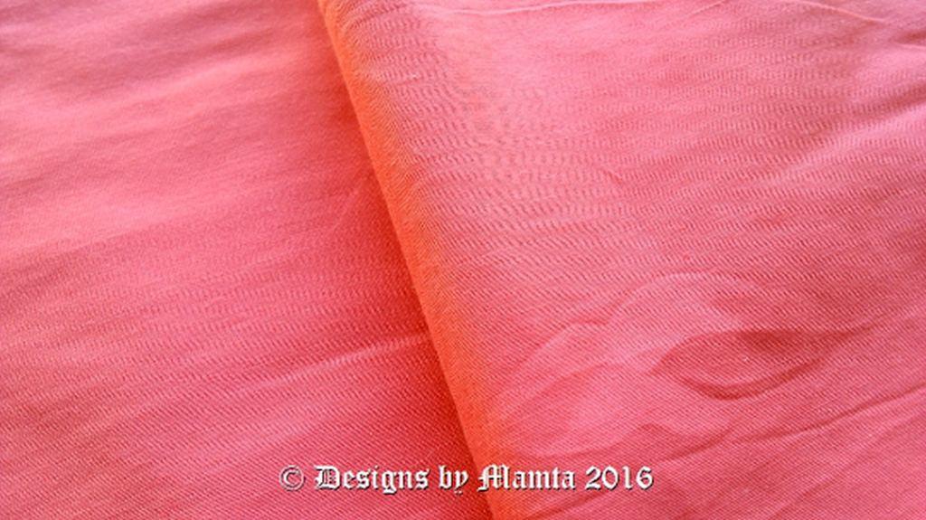 Coral Pink Dupioni Silk Fabric