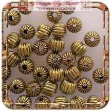 Corrugated Brass Beads