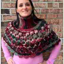 Crochet Sea Shells Turtleneck Poncho Pattern