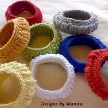Crochet Tyre Bangle Bracelet Pattern