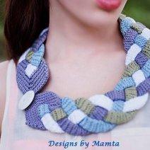 Four Braid Crochet Necklace Pattern