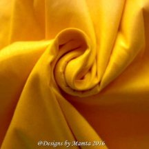 Golden Daisy Yellow Silk Dupioni Fabric