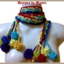 Hippie Chic Scarf Crochet Pattern