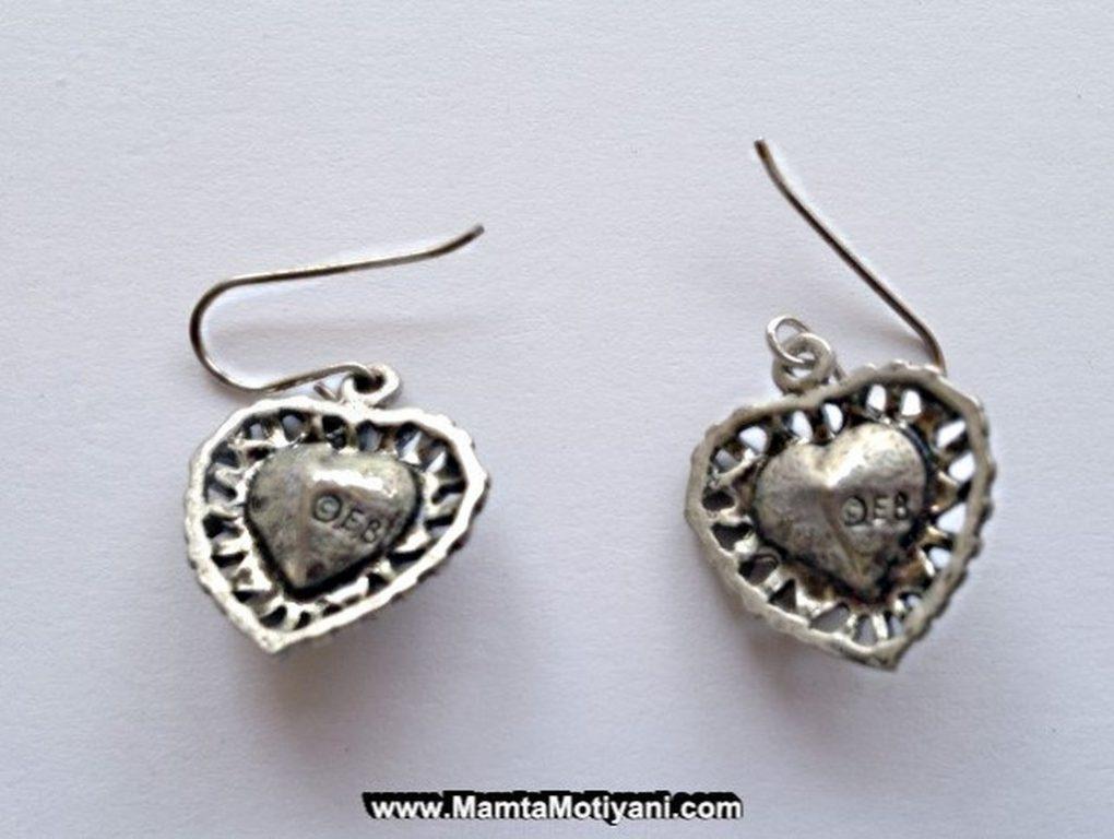 Love Heart Vintage Earrings