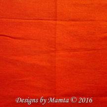 Neon Orange Silk Fabric