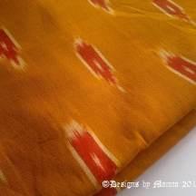 Orange Ikat Fabric