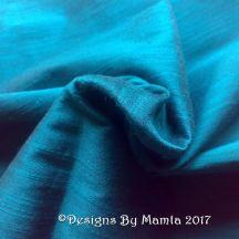 Peacock Blue Silk Fabric