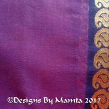 Purple Pink Dual Tone Indian Sari Fabric
