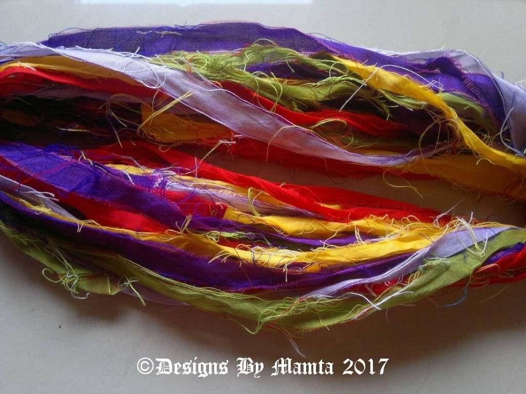 Recycled Sari Ribbon Yarn