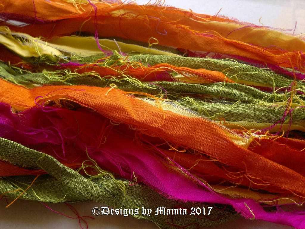 Recycled Silk Sari Ribbons