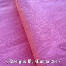 Rose Pink Dupioni Silk Fabric