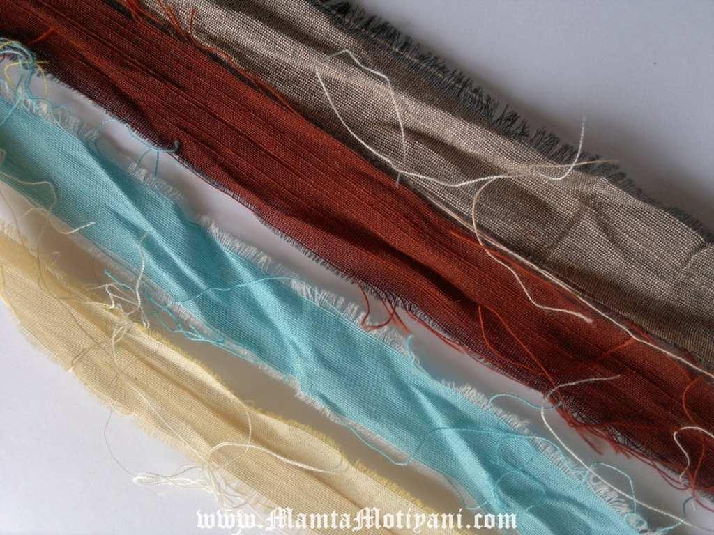 Silk Yarn Sari Ribbon