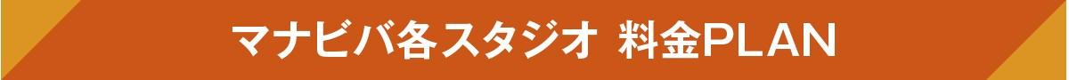 マナビバ各スタジオ 料金PLAN