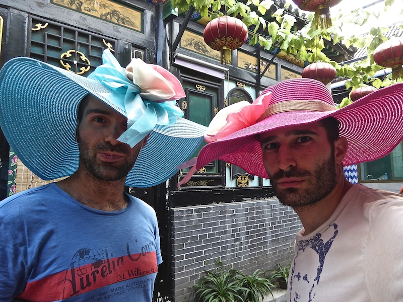 Stefan and Sébastien sporting new hats.