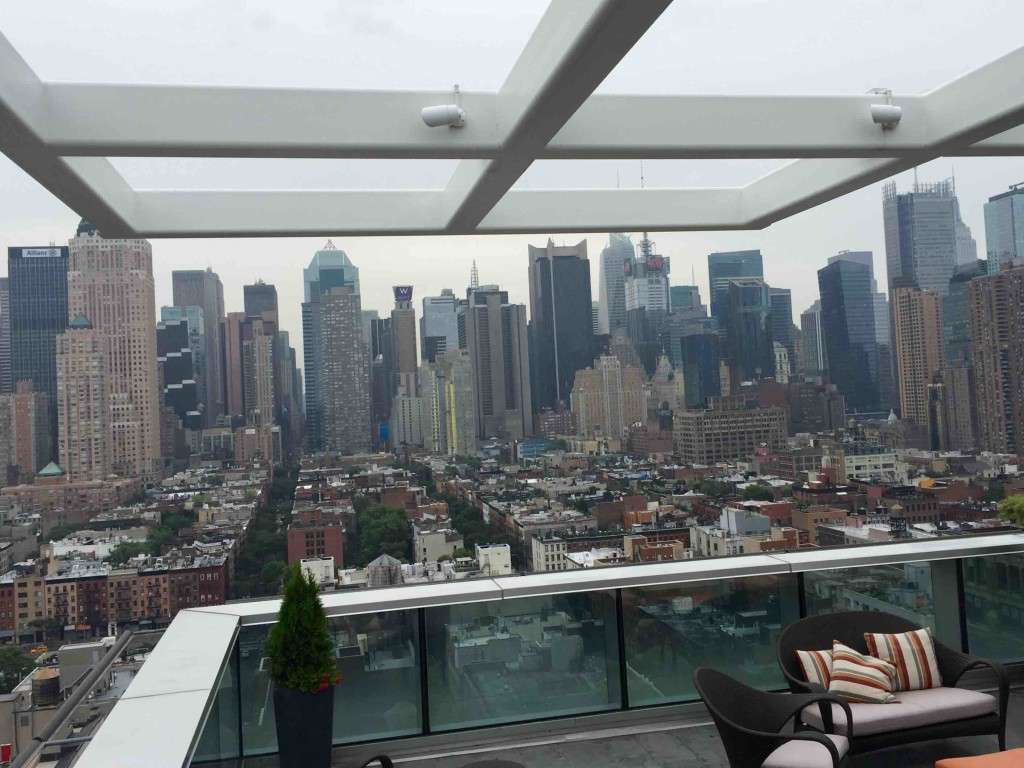 Amazing NYC views at Kimpton in ManAboutWorld gay travel magazine