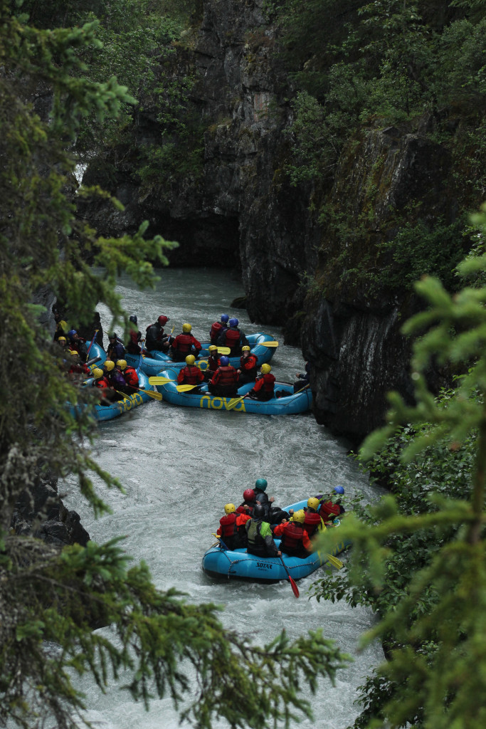 Whitewater rafting in Alaska, in ManAboutWorld gay travel magazine