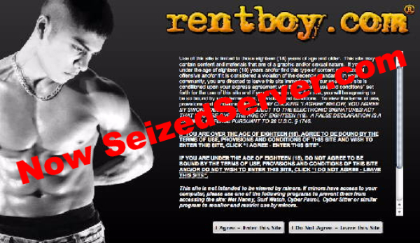 Rentboy, seized. ManAboutWorld gay travel magazine