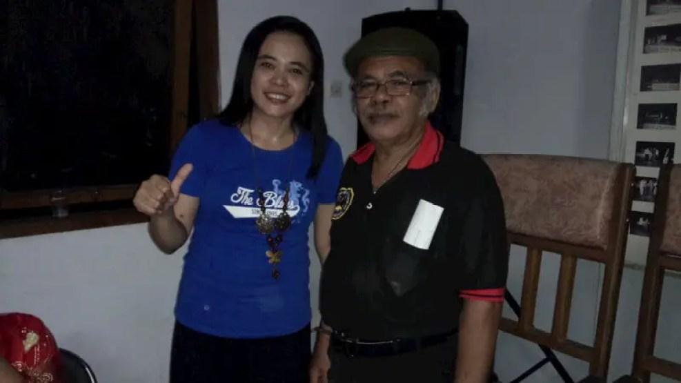 Selvie F Dayoh bersama M. Gidoan