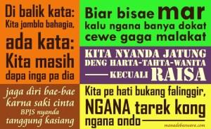 50 Kata Bijak Bahasa Manado Lucu