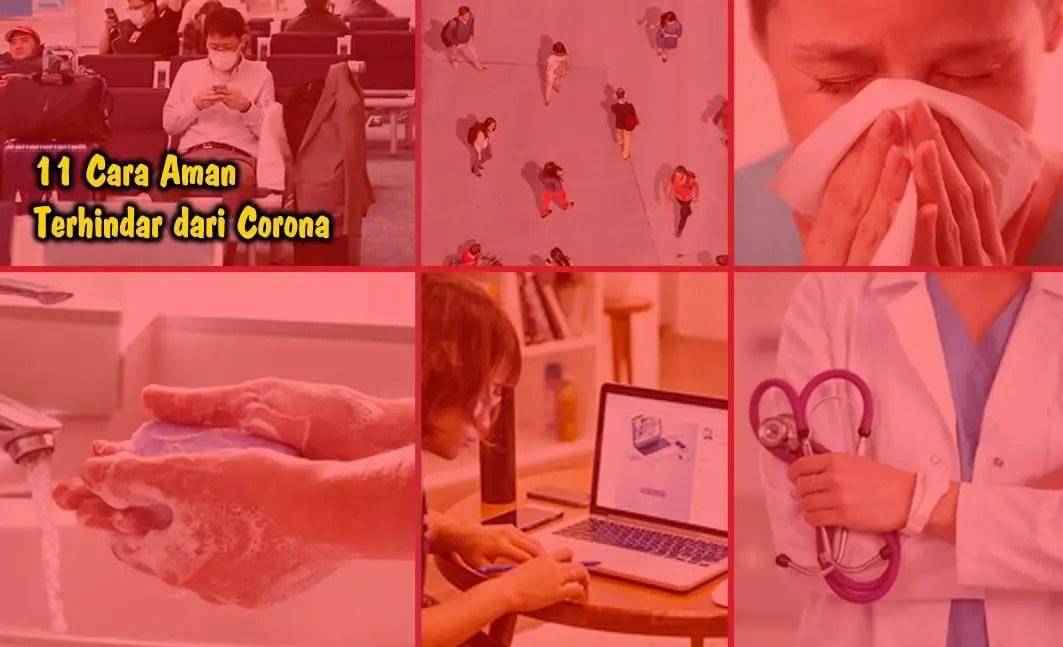 Cara Aman Terhindar Corona (Updated)