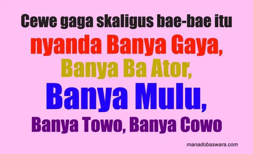 Kata Kata Sindiran Bahasa Manado Dan Artinya Manado Baswara