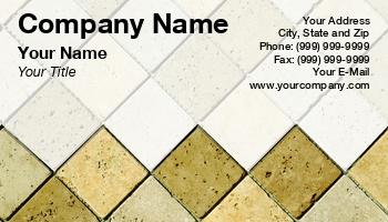 tile installer business cards