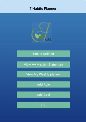 7 Habits Planner Screenshot: Kein geeignetes Tool