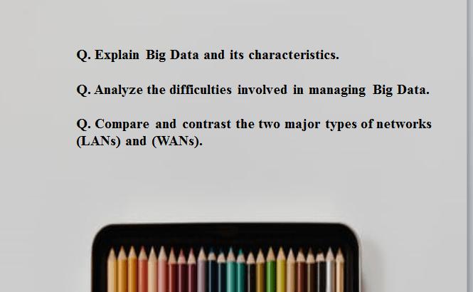 Characteristics of Big Data