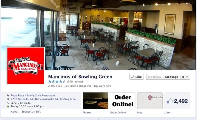 restauracja na facebooku
