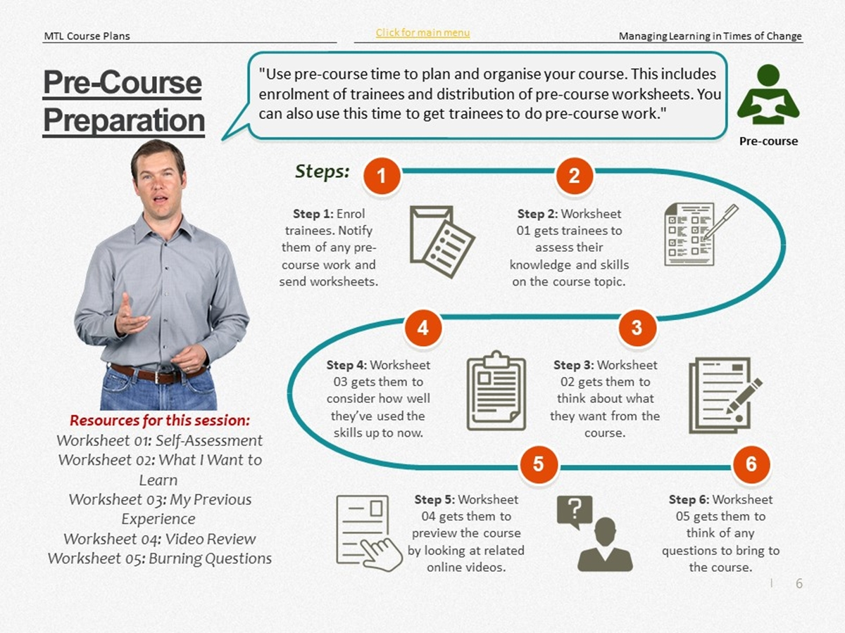 Mtl Course Plans Managing Learning In Times Of Change