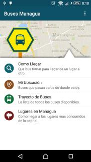 En la interfaz de inicio, podés escribir adónde vas, compartir tu ubicación, conocer las rutas disponibles o los lugares cerca de donde estás.