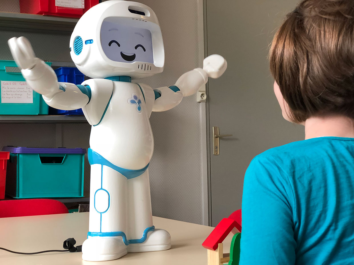 Therapy Robot Teaches Social Skills To Children With