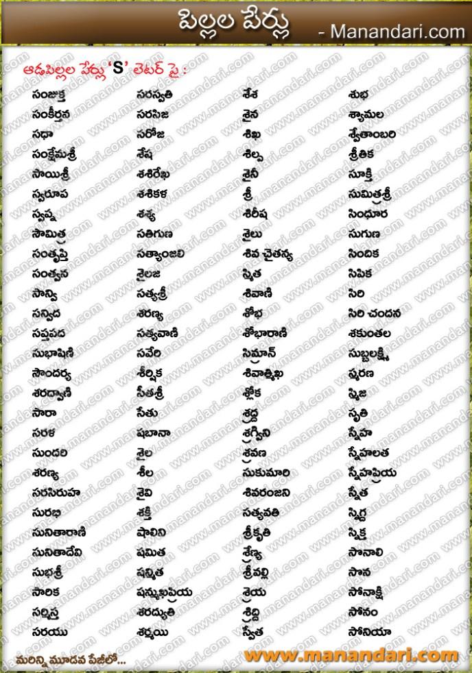 Baby Girl S Letter Names