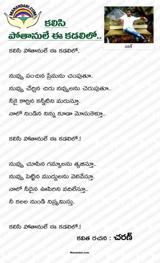 Kalasi Potanule Ee Kadalilo - Telugu Kavita