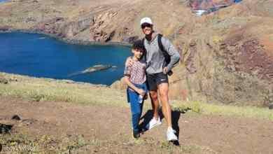 رونالدو مع ابنه في جزيرة ماديرا