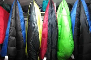 Sleeping bags waiting for bodies.
